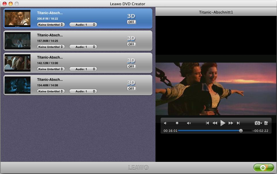 TRP DVD Brennprogramm für Mac